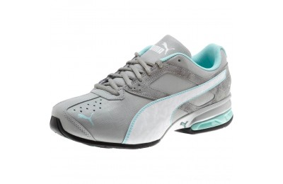 Puma Tazon 6 Accent Wide Women's Sneakers Quarry- White-ARUBA BLUE Outlet Sale