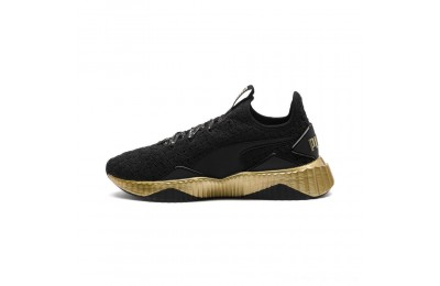 Puma Defy Sparkle Wn's Black- Team Gold Outlet Sale