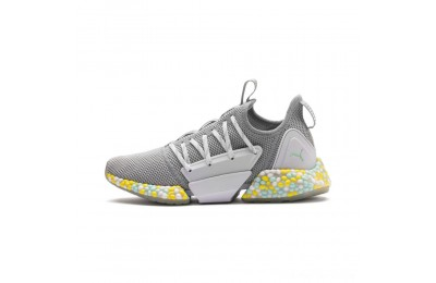 Puma HYBRID Rocket Runner Women's Running Shoes Quarry- White-Fair Aqua Outlet Sale