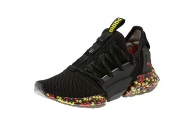 Puma HYBRID Rocket Runner JRBlack-Blazing Yellow-Red Outlet Sale