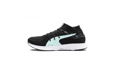 Puma SPEED 500 Women's Running Shoes Black- White Outlet Sale