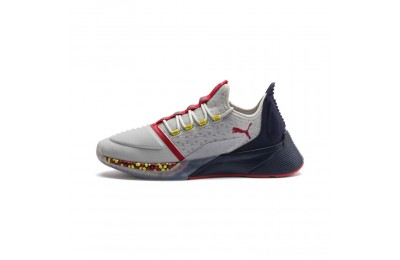 Puma Xcelerator Men's Sneakers Gray-Peacoat-High Risk Red Outlet Sale
