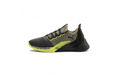 Black Friday 2020 Puma Xcelerator Daylight Running Shoes Asphalt-Black-Elm-Yellow Outlet Sale