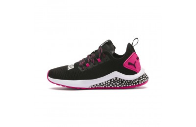 Puma HYBRID NX Women's Running Shoes Black-Fuchsia Purple Outlet Sale