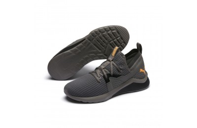 Black Friday 2020 Puma Emergence Future Men's Training Shoes Charcoal Gray-Black-Orange Outlet Sale