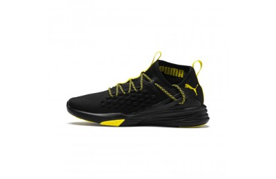 Puma Mantra Caution Men's Training Shoes Black-Blazing Yellow Outlet Sale