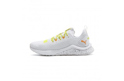 Puma HYBRID NX Daylight Men's Running Shoes White-Orange Pop-FizzyYellow Outlet Sale