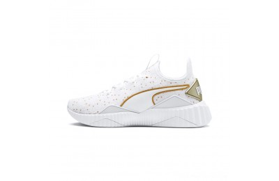 Puma Defy Speckle Women's Training Shoes White-Gold Outlet Sale
