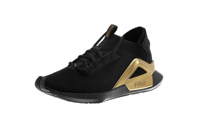 Puma Rogue Metallic Women's Running Shoes Black-Metallic Gold Outlet Sale