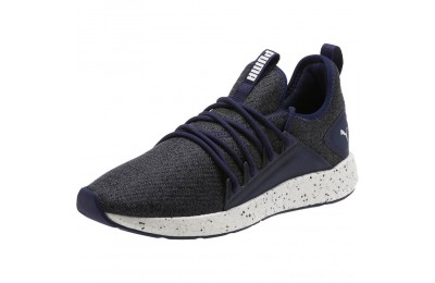Black Friday 2020 Puma NRGY Neko Knit Speckle Men's Running Shoes Peacoat- White Outlet Sale