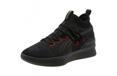 Black Friday 2020 Puma Clyde Court Reform Basketball Shoes Black Outlet Sale