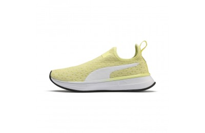 Puma SG Slip-on Bright Women's Training Shoes YELLOW- White- Black Outlet Sale