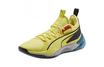 Puma Uproar Spectra Basketball Shoes Limelight- Black- White Outlet Sale