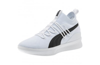 Puma Clyde Court Basketball Shoes JR White Outlet Sale