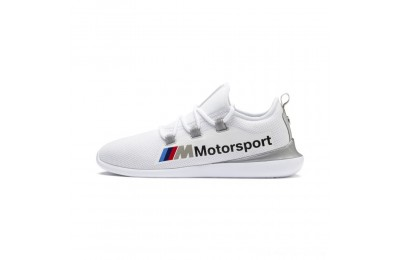 Puma BMW MMS Evo Cat Racer White- Silver Outlet Sale