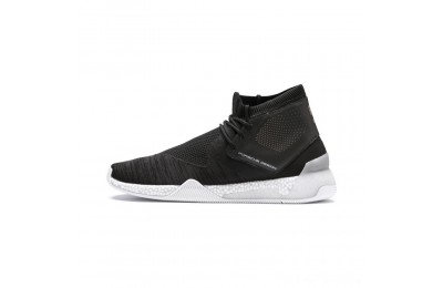 Black Friday 2020 Puma Porsche Design HYBRID evoKNIT Men's Running Shoes Jet Black- White Outlet Sale