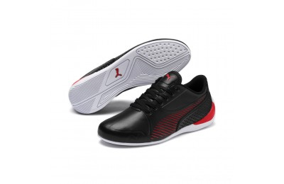 Puma Scuderia Ferrari Drift Cat 7S Ultra JR Black-Rosso Corsa Outlet Sale
