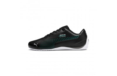 Black Friday 2020 Puma Mercedes AMG Petronas Drift Cat 5 Ultra II Shoes Black-Spectra Green Outlet Sale