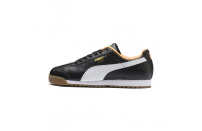 Puma Roma Basic Sneakers Black-Orange Pop Outlet Sale