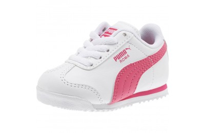 Puma Roma Basic Sneakers INFwhite-fuchsia purple Outlet Sale
