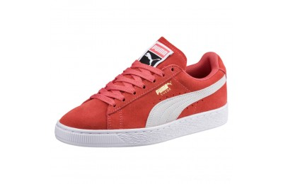 Puma Suede Classic Women's Sneakers Spiced Coral- White Outlet Sale