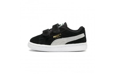Black Friday 2020 Puma Suede 2 straps Infantblack-white Outlet Sale