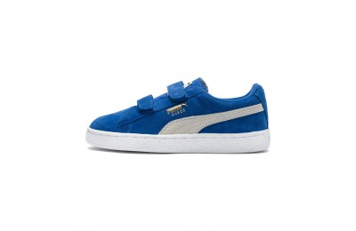 Black Friday 2020 Puma Suede 2 straps Infantsnorkel blue-white Outlet Sale