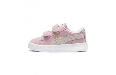 Puma Suede 2 straps Infantpink lady-team gold Outlet Sale