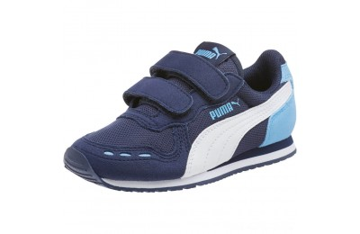 Puma Cabana Racer Mesh AC Sneakers PSP.coat-P.Wht-Little Boy Blue Outlet Sale