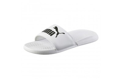 Puma Popcat Slide Sandals White- Black Outlet Sale