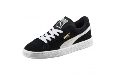 Puma Suede PS Kids' Sneakers Black- White Outlet Sale