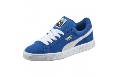 Puma Suede PS Kids' Sneakers Snorkel Blue- White Outlet Sale