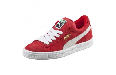 Puma Suede PS Kids' Sneakers high risk red-white Outlet Sale