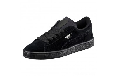 Puma Suede PS Kids' Sneakers Black- Silver Outlet Sale