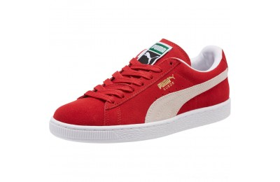 Black Friday 2020 Puma Suede Classic + Women's Sneakers high risk red-white Outlet Sale