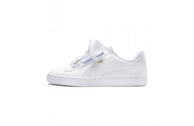 Black Friday 2020 Puma Basket Heart Patent Women's Sneakers White- White Outlet Sale