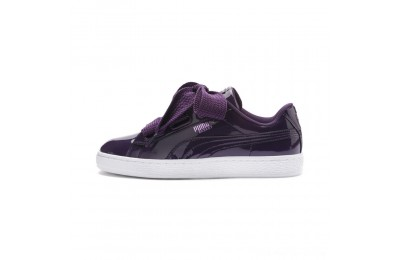 Black Friday 2020 Puma Basket Heart Patent Women's Sneakers Indigo- White Outlet Sale