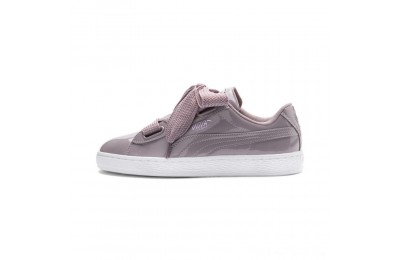 Black Friday 2020 Puma Basket Heart Patent Women's Sneakers Elderberry-Elderberry Outlet Sale