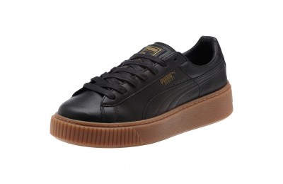 Black Friday 2020 Puma Basket Platform Core Women's Sneakers Black- Black Outlet Sale