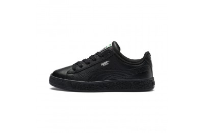 Puma Basket Classic Kids' Sneakers Black- Black Outlet Sale