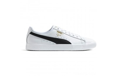 Black Friday 2020 Puma Clyde Core Foil Men's Sneakers White- Black- Team Gold Outlet Sale