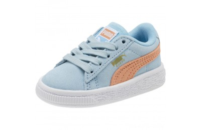Puma Suede Classic Infant Sneakers CERULEAN-Dusty Coral Outlet Sale