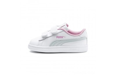 Black Friday 2020 Puma Puma Smash v2 L V Infant Sneakers White-Fair Aqua-Pale Pink Outlet Sale