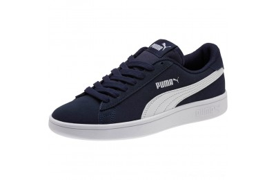Puma Smash v2 Suede JR Sneakers Peacoat- White Outlet Sale