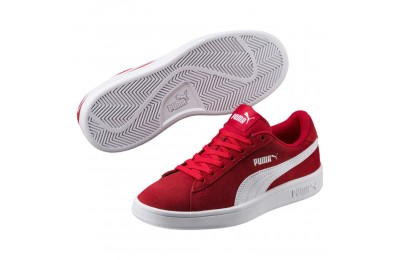 Black Friday 2020 Puma Smash v2 Suede JR Sneakers High Risk Red- White Outlet Sale