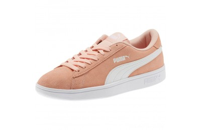 Black Friday 2020 Puma Smash v2 Suede JR Sneakers Peach Bud- White Outlet Sale