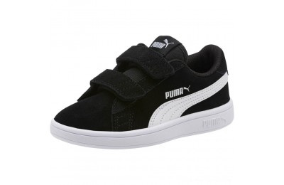 Black Friday 2020 Puma Smash v2 Suede Preschool Sneakers Black- White Outlet Sale