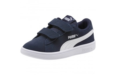 Puma Smash v2 Suede Preschool Sneakers Peacoat- White Outlet Sale