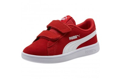 Black Friday 2020 Puma Smash v2 Suede Preschool Sneakers High Risk Red- White Outlet Sale