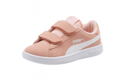 Puma Smash v2 Suede Preschool Sneakers Peach Bud- White Outlet Sale